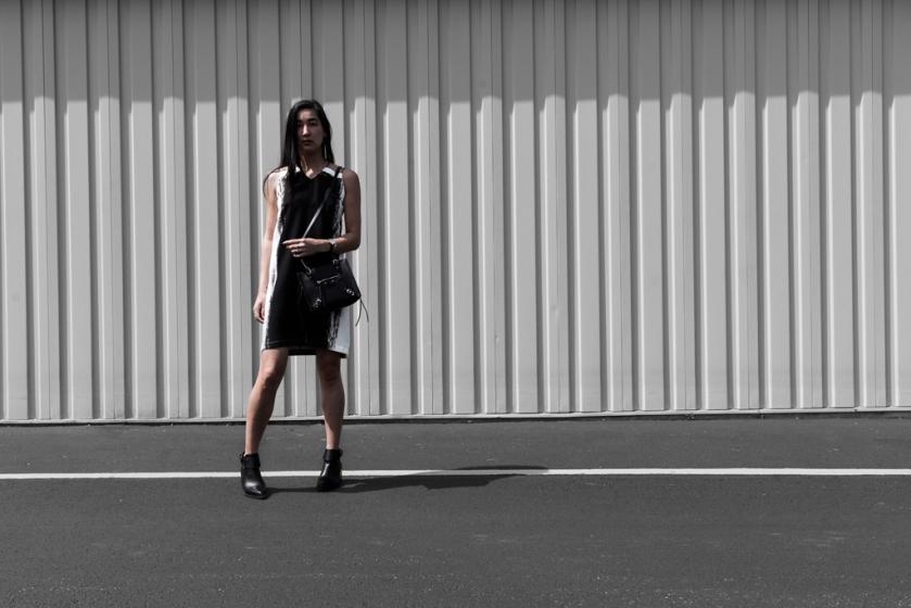 contrast ootd streetstyle dress