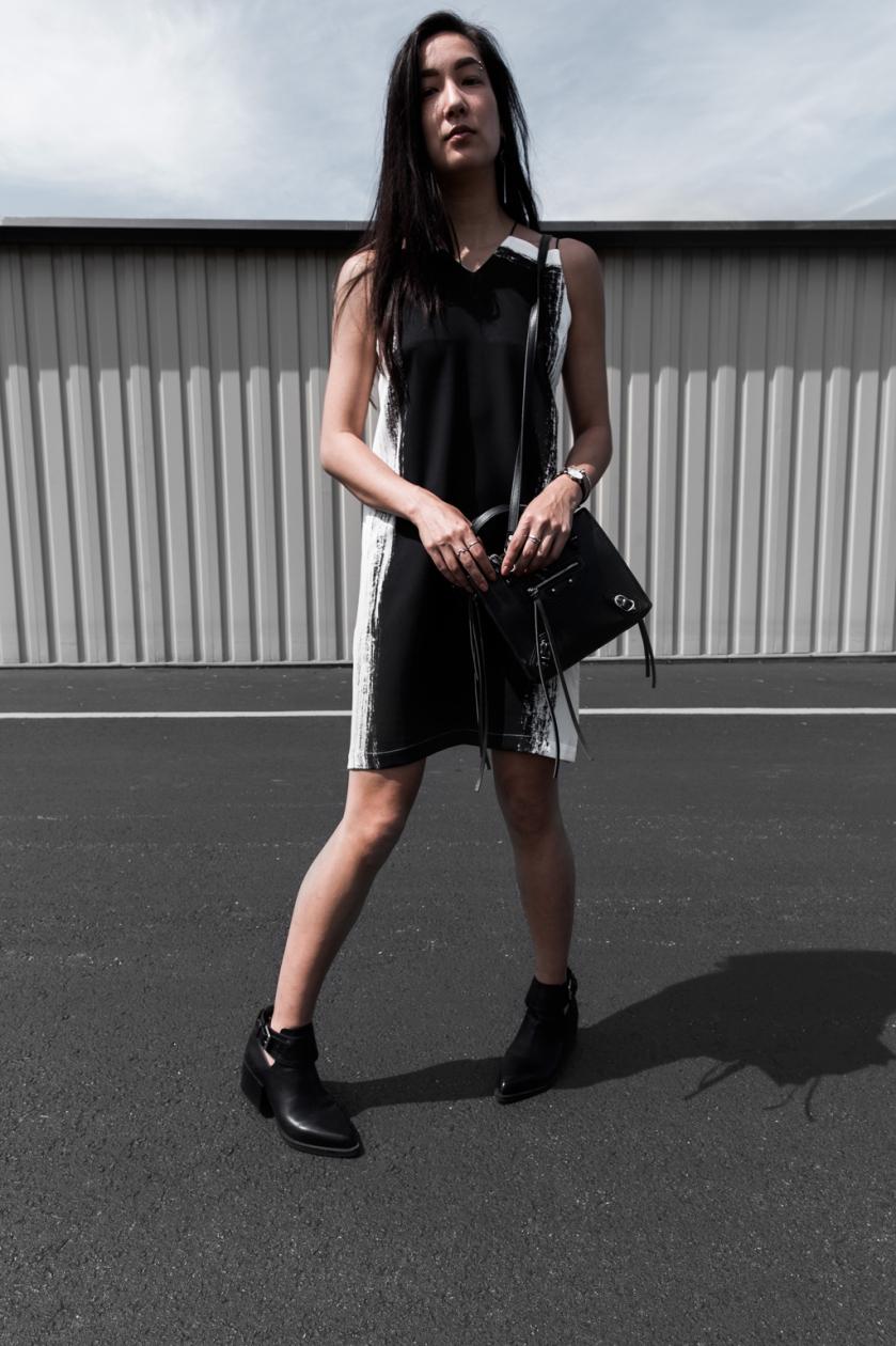 contrast sheath fashion dress ootd