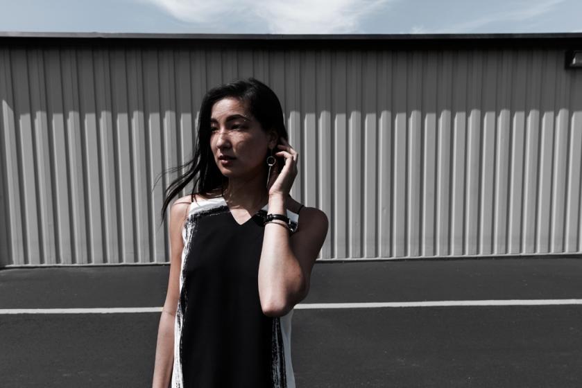 contrast sheath fashion dress 4
