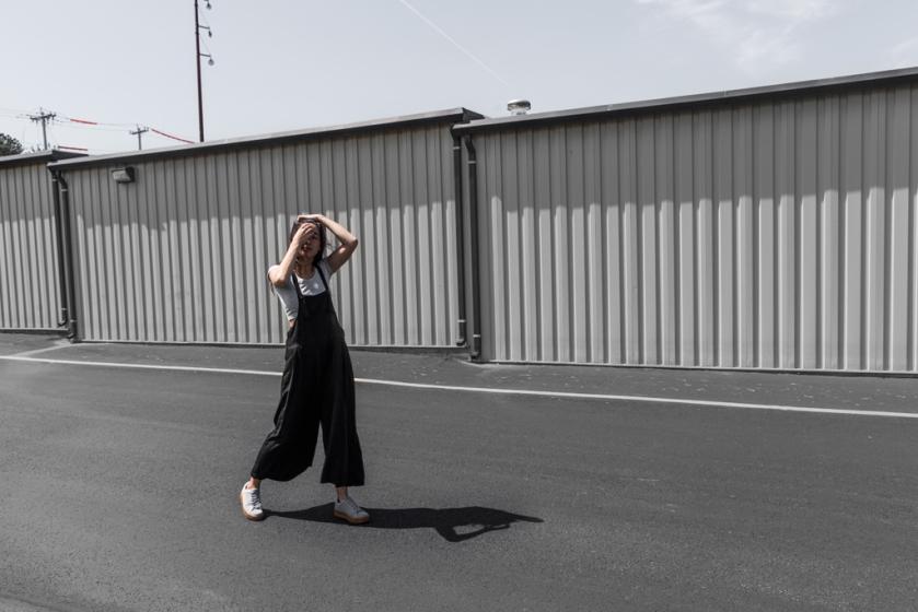 minimal overalls