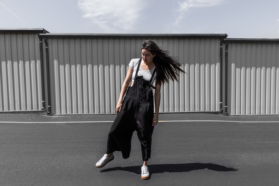 overalls sneaker style