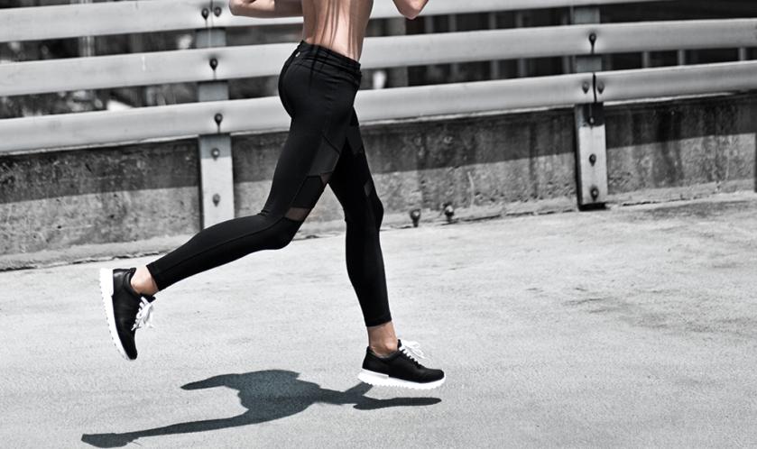 titika activewear leggings and sneakers