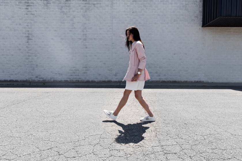 pastel fashion with lie jacket and otbt shoes