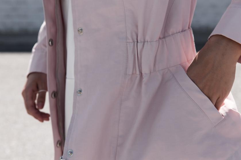 blush pastel pink normcore jacket