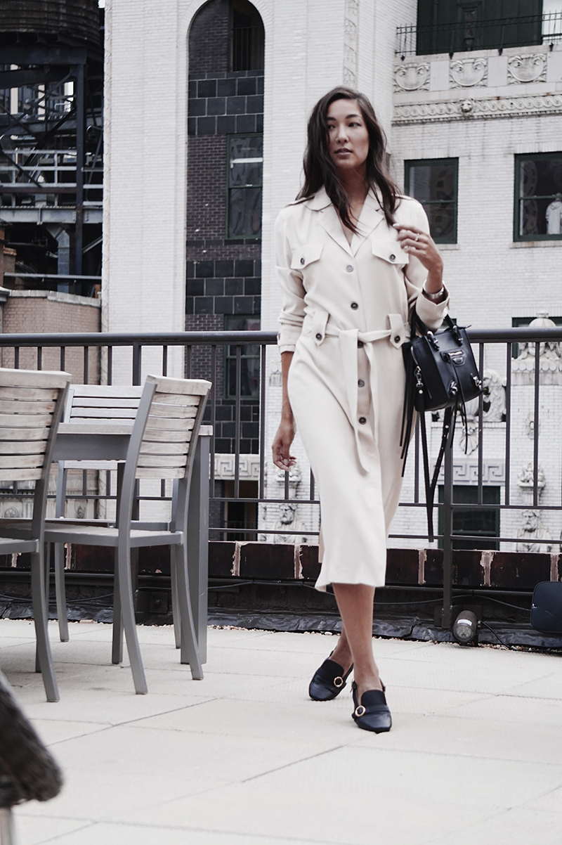 classic trench nyc style