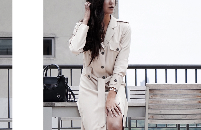 nyc rooftop trench coat style