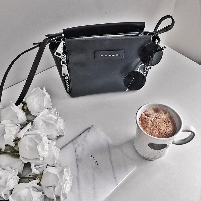 minimalist blogger coffee