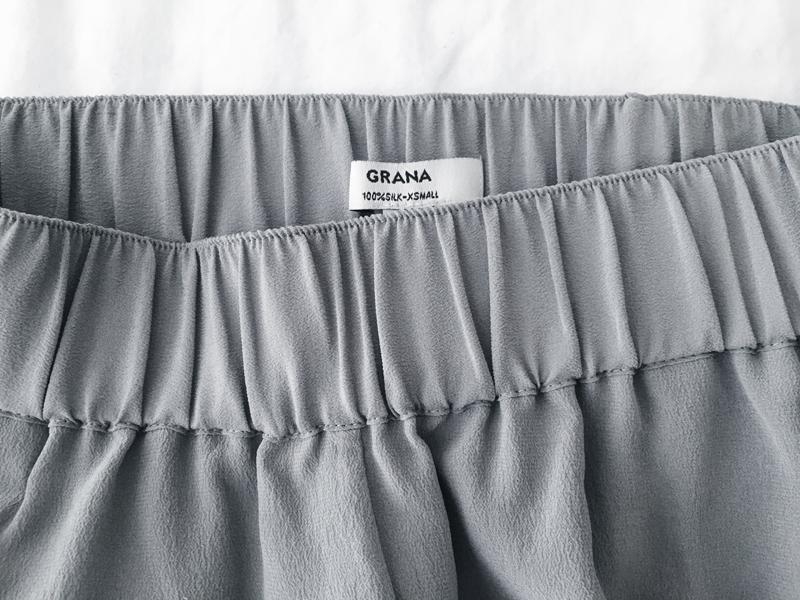 grey silk joggers