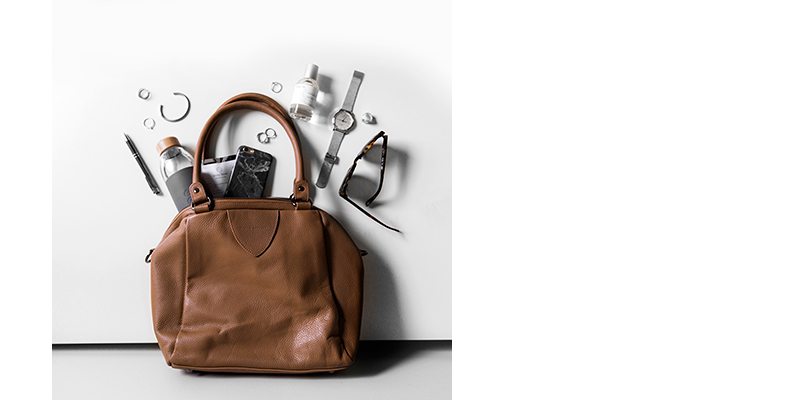 leather butterscotch handbag