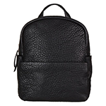 status anxiety black leather backpack
