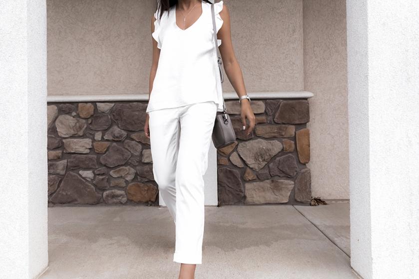 all white silk david lerner luxury fashion