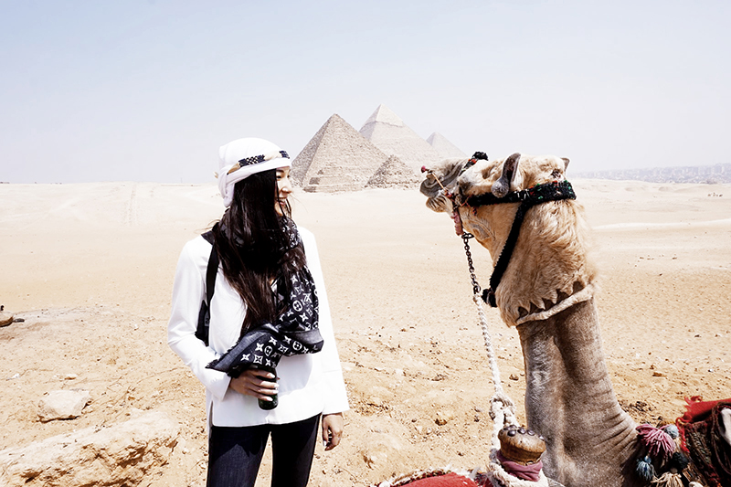 travel blogger in egypt