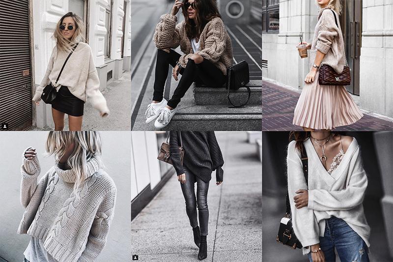 fashion blogger oversized sweater inspo