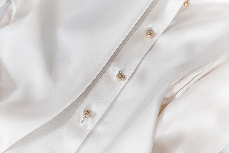 closeup of ravella silk blouse