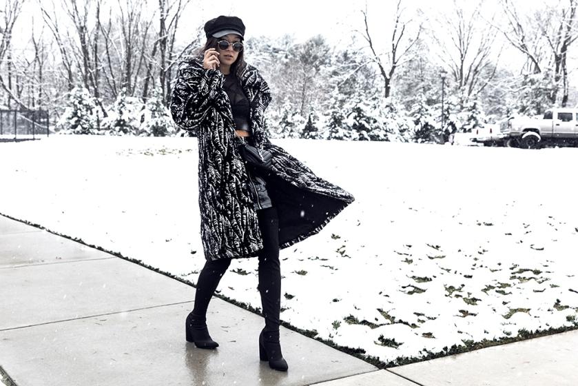 luxury winter fashion blogger