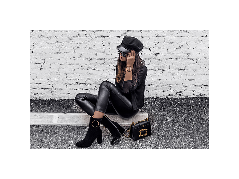 luxury fashion leather leggings