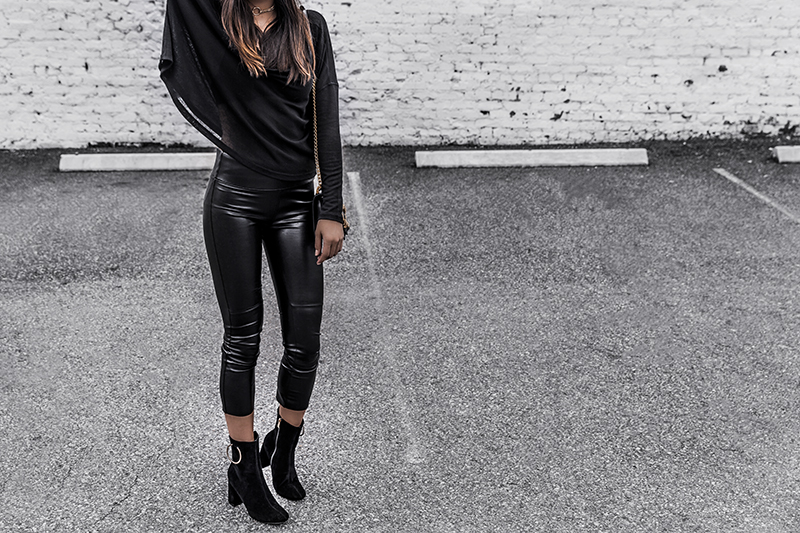 sexy leather leggings