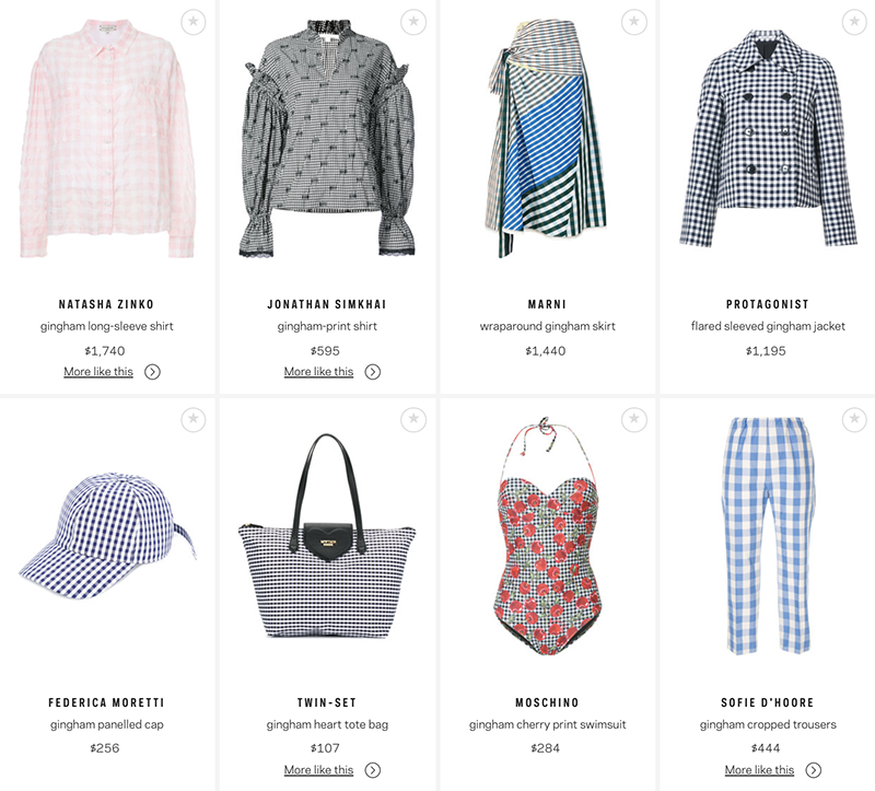 where to buy luxury fashion gingham