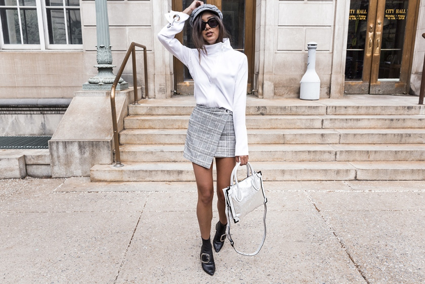 plaid wrap skirt current fashion trends