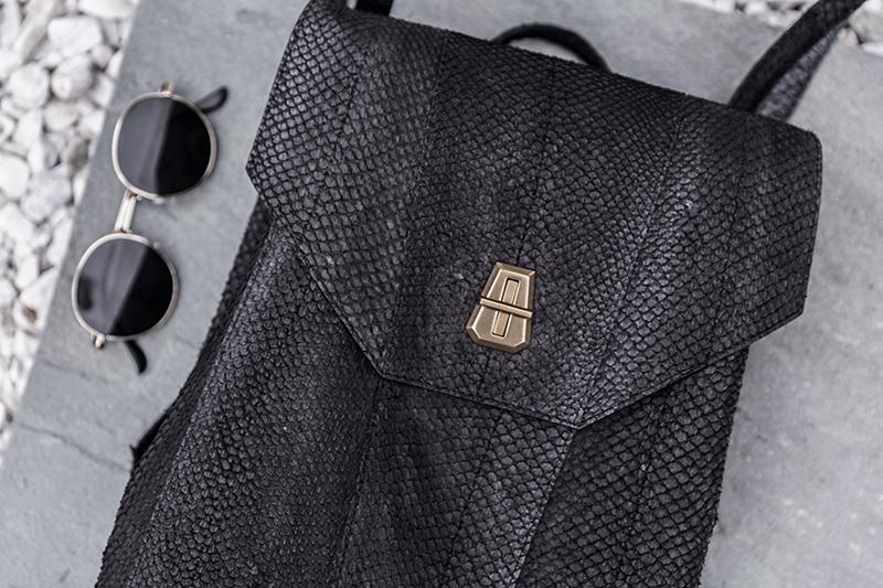 luxury fashion handbag made with salmon skin