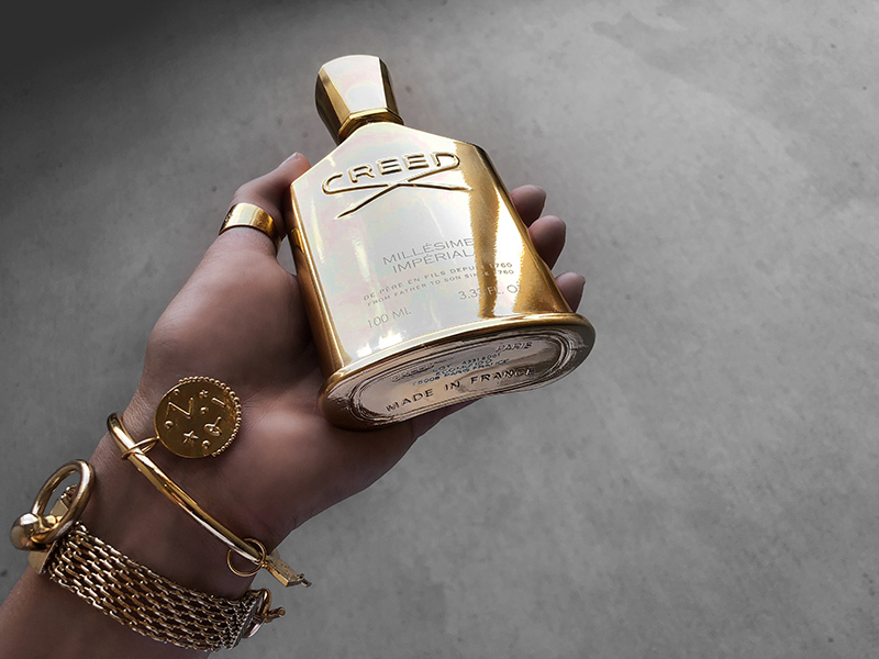 luxury fashion blogger reviews creed millesine imperial cologne
