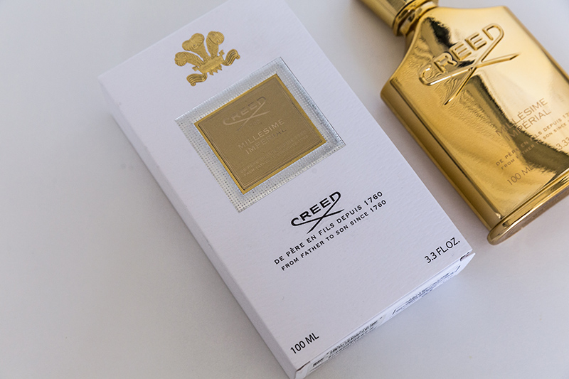 luxury scent creed millesime imperial packaging