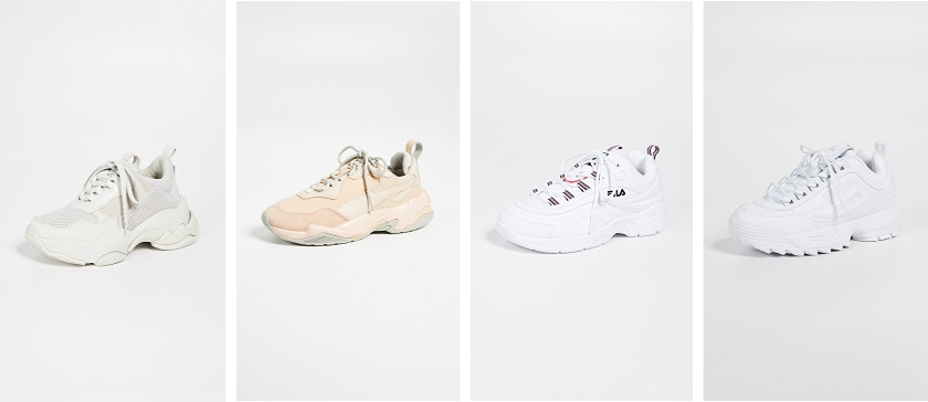 chunky fashion sneakers to buy from shopbop including jeffery campbell, puma and fila