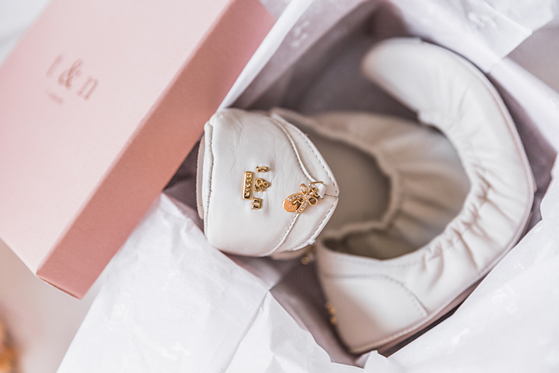t&n ballet flats come packaged in a pretty pink box