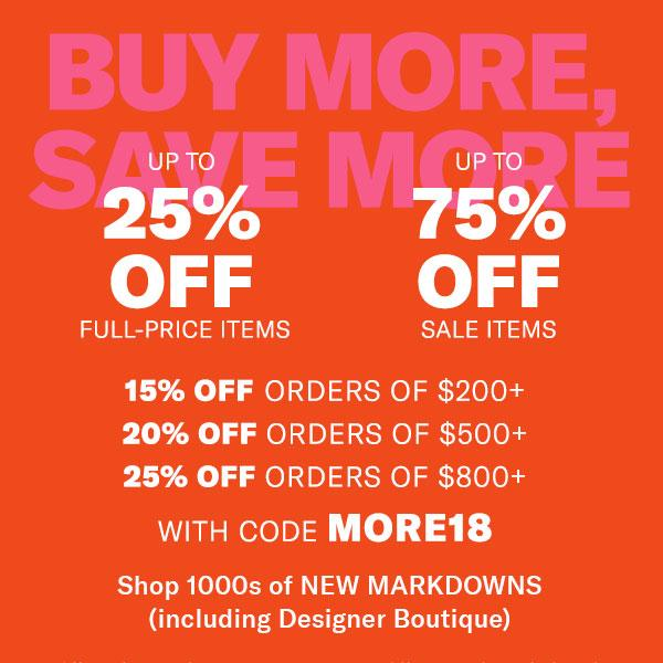 shopbop cyber weekend promotion details with coupon code, save up to 75% off!
