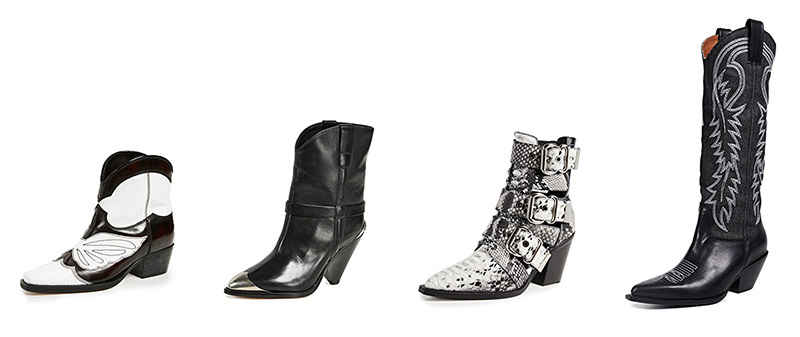 western boots on sale during shopbop's cyber weekend promo sale