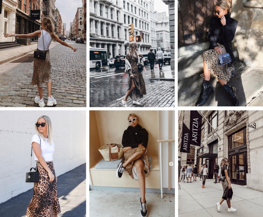 fashion bloggers wearing leopard print