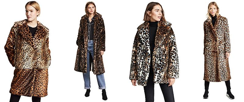 fluffy leopard print coats