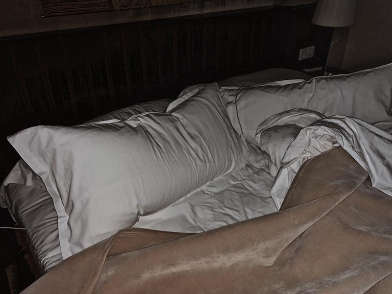 vintage hotel bed