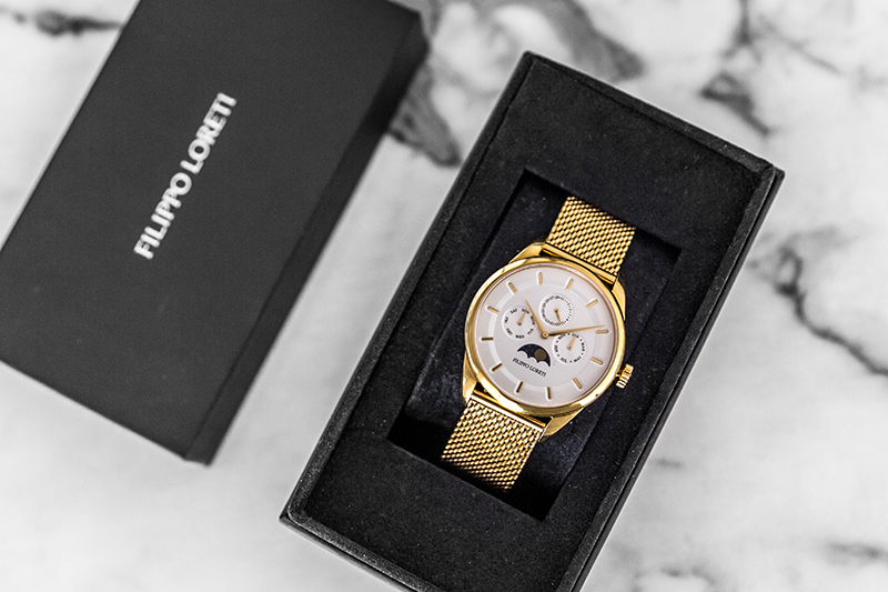 filippo loretti watch review in packaging box