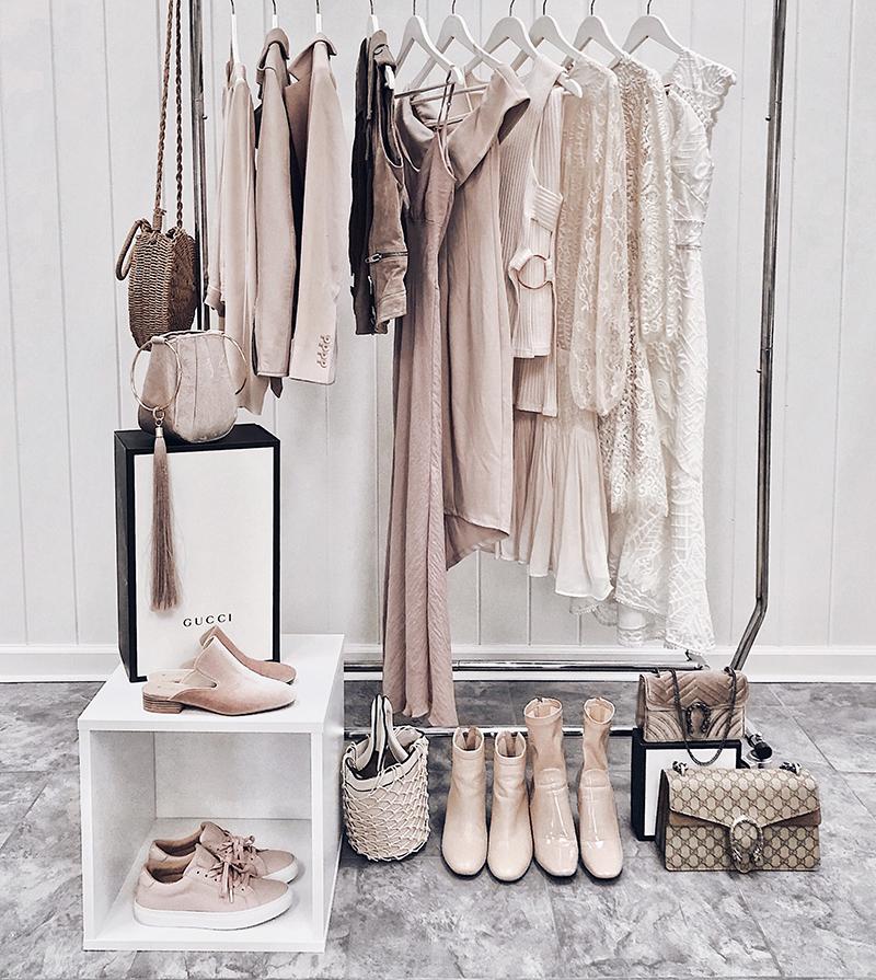 luxury fashion wardrobe with shopbop