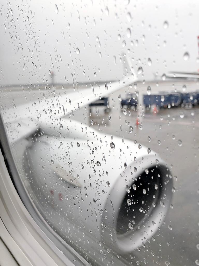 rainy flight