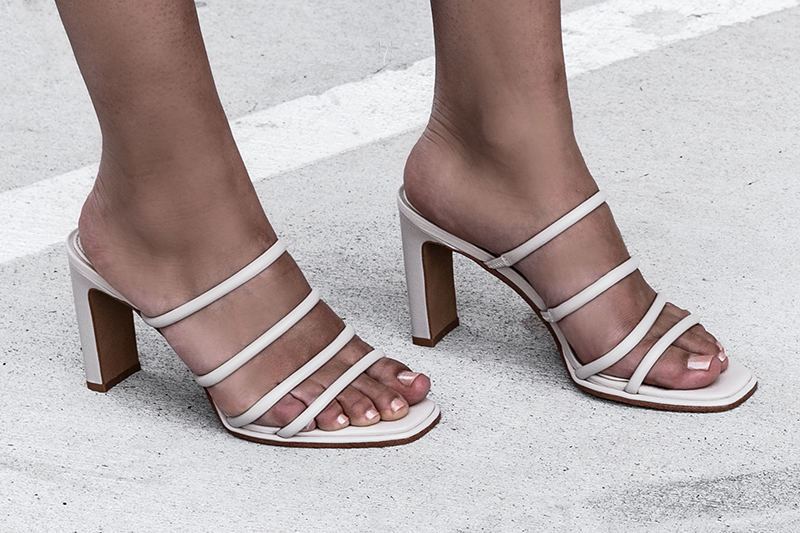 strappy low heel sandals by jo mercer