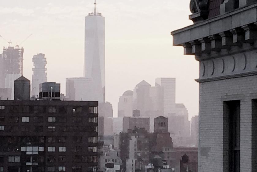 foggy nyc city