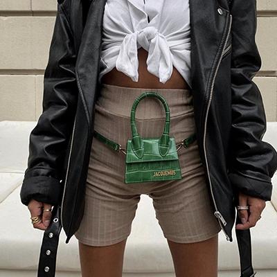 blvckd0pe wears a jaquemus luxury mini bag