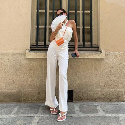 carollvalladao fashion blogger wears an orange mini bag trend