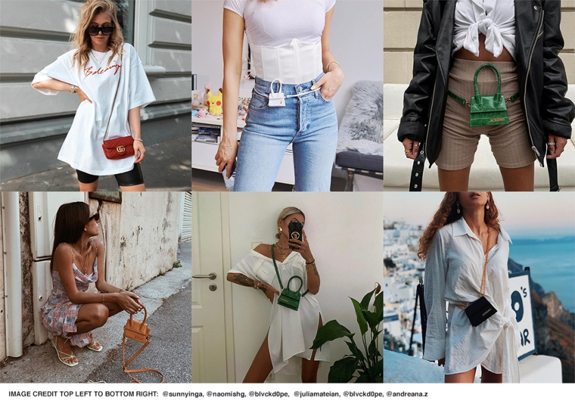 the mini bag trend on fashion bloggers