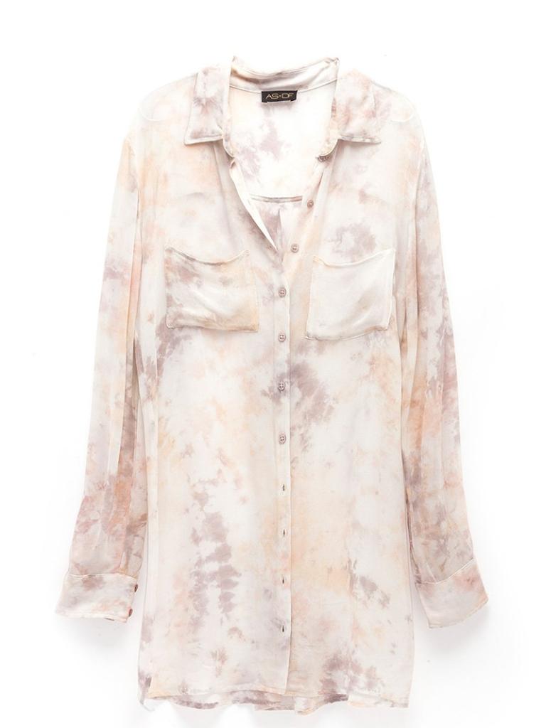 as by df luxury tie-dye blouse