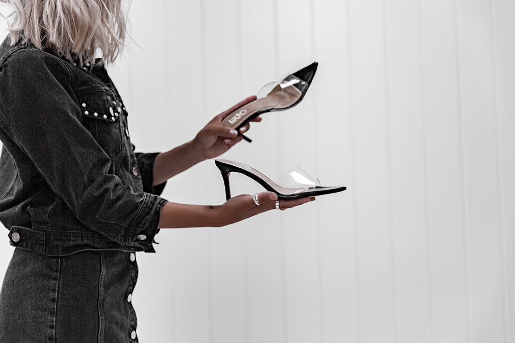 how to wear clear perspex heels
