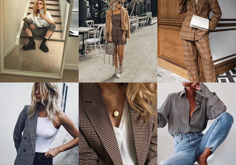 who's wearing plaid blazers and pants fashion bloggers