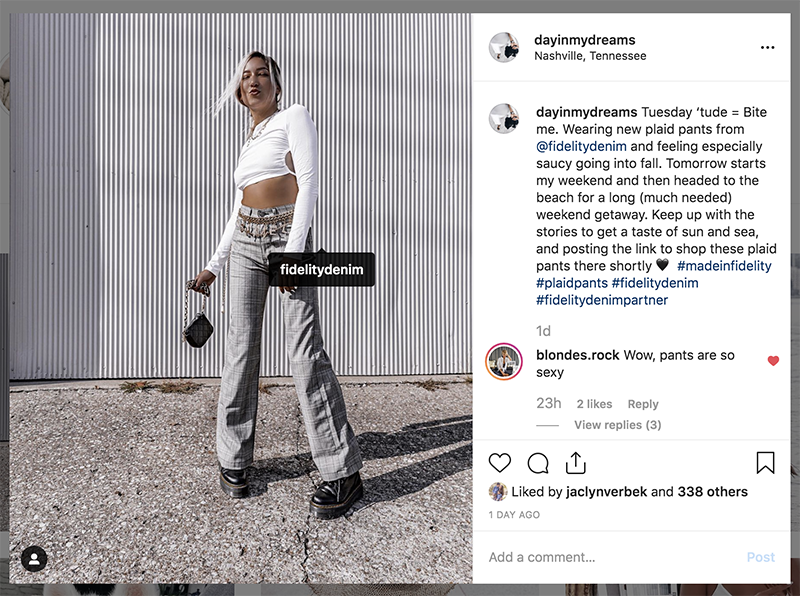 fidelity denim instagram feature