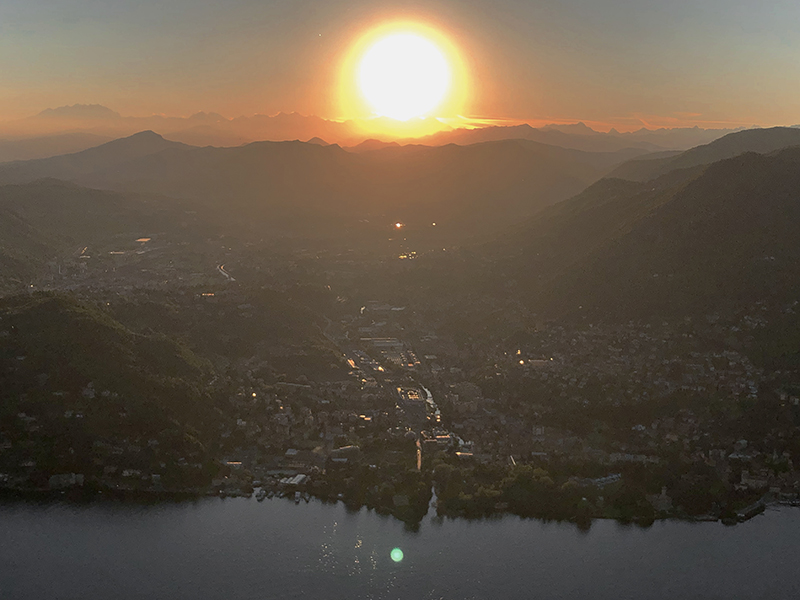 city of lugano from the sky