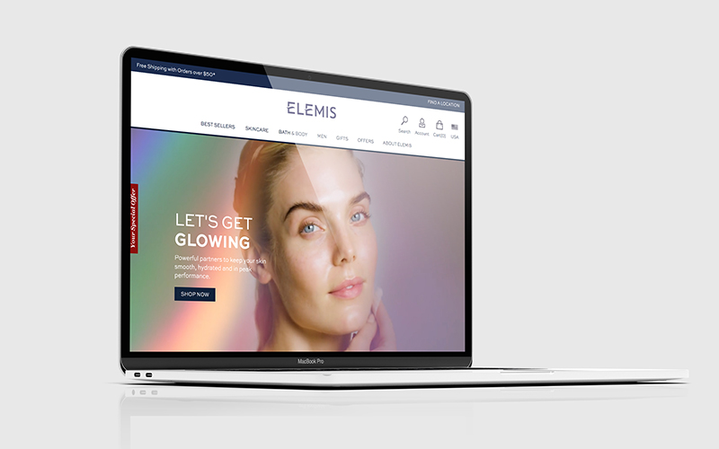 elemis luxury skincare website