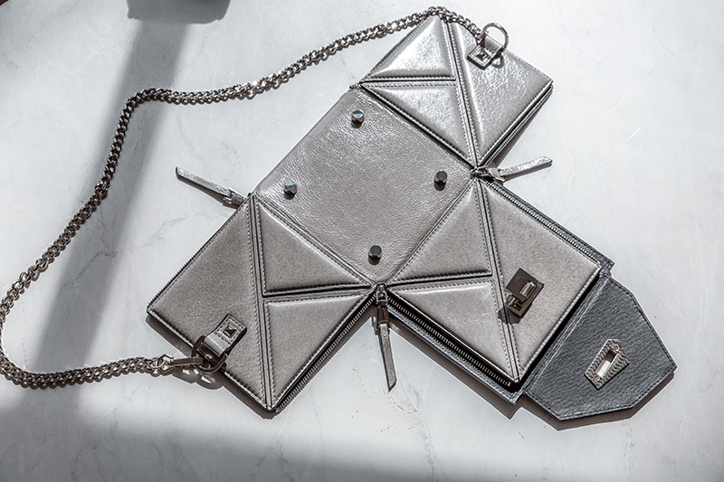 d.internoscia handbag jett cube folds down flat