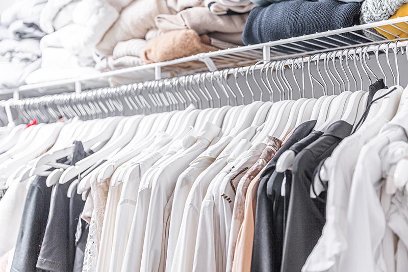 luxury fashion blogger's wardrobe