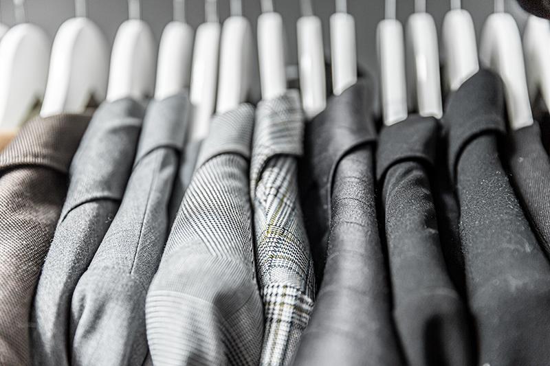 capsule wardrobe of blazers